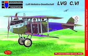 Kovozavody Prostejov 1/72 Model Kit 7273 LVG C.VI Decals Lithuanian AF