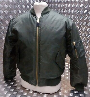 Intelligente Ma1 Us Stile Militare Bomber Mod/scooter/bikers Tutte Le Taglie Od Verde-nuovo-kers All Sizes Green Od - New It-it