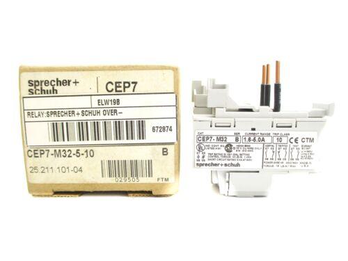 SPRECHER+SCHUH CEP7-M32-5-10 SER B 1.6-5.0A NSMP