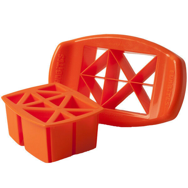 FunBites Bite-Sized Fun Shapes Food Cutter - Heart, Square,Triangle Shaped Bites