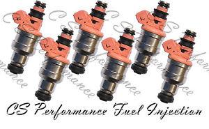 6X GENUINE Nikki Fuel Injectors For 1995-1998 Mitsubishi 3000GT 3.0L V6