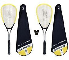 2 x Browning Nanotec Ti 150 Squash Rackets + 3 Squash Balls RRP £130