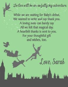 Image Is Loading Peter Pan Baby Shower Or Birthday Party Thank