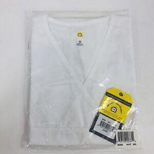 WonderWink Women's Scrub White 5 Pocket V Neck Wrap Top Medium 6026A sealed