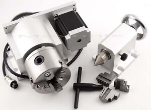 New-CNC-Router-Rotational-Rotary-Axis-A-axis-4th-axis-3-Jaw-and-Tail-stock