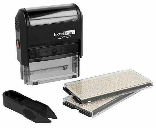 Office Address Stamper Custom Self Inking Stamp Rubber Letter Personalized Kit..