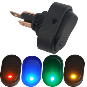 4-X-12V-30A-Heavy-Duty-LED-OFF-ON-Rocker-Toggle-Switch-3Pin-Car-Sales-Colors