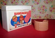 Fisher-Price 1980's Medical Bag White Bandages Box w/ Bandage Band-Aid