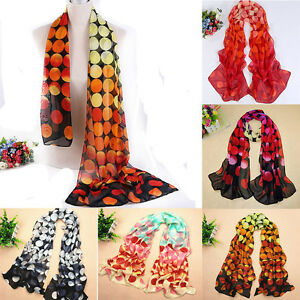New-Fashion-Dot-Girl-Women-Long-Soft-Wrap-Lady-Shawl-Silk-Chiffon-Scarf-Warm