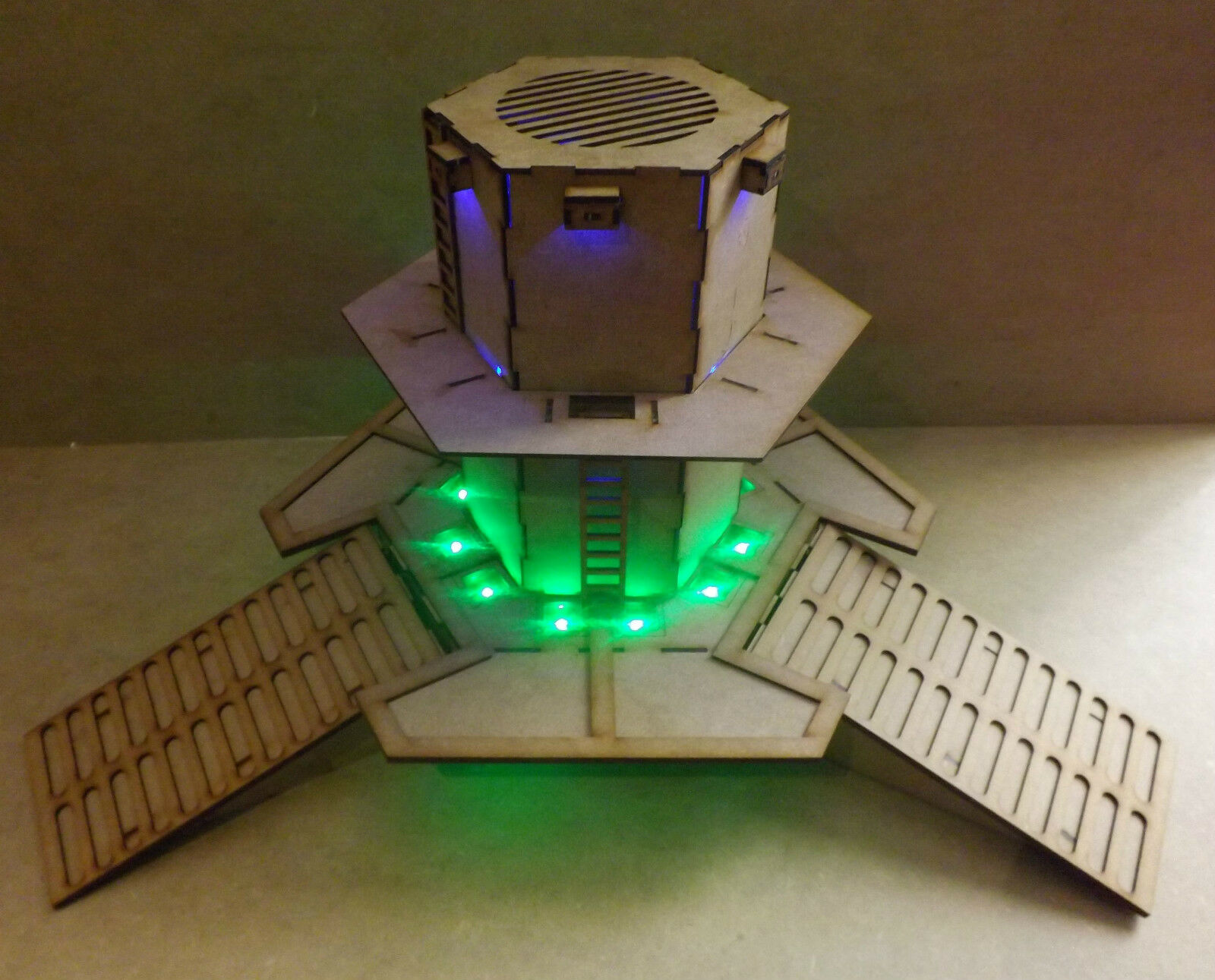 Skypad with tower LED warhammer 40k wargame infinity building terrain scenary