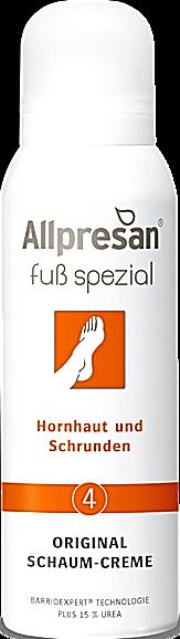 Allpresan Nr. 4 Fuß spezial Schaum-Creme 125 ml, Hornhaut und Schrunden 15% Urea