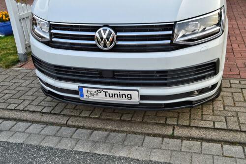 Spoilerschwert Frontspoiler Lippe aus ABS für VW Bus T6 mit ABE schwarz glänzend