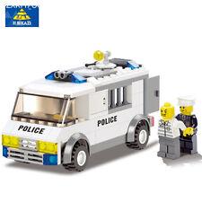 Police Series Blocks Police Custody Van Enlighted Building Blocks Sets playmobil