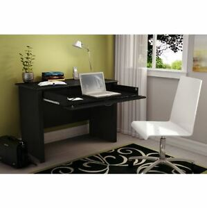 Details about College Dorm Bedroom Home Office Black Laptop Computer Desk  Keyboard Tray Drawer