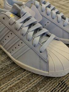 buy popular 712e1 e1274 Details about **NEVER WORN** Adidas Originals Superstar 80s W Aero Blue/Off  White. Size 7.5.