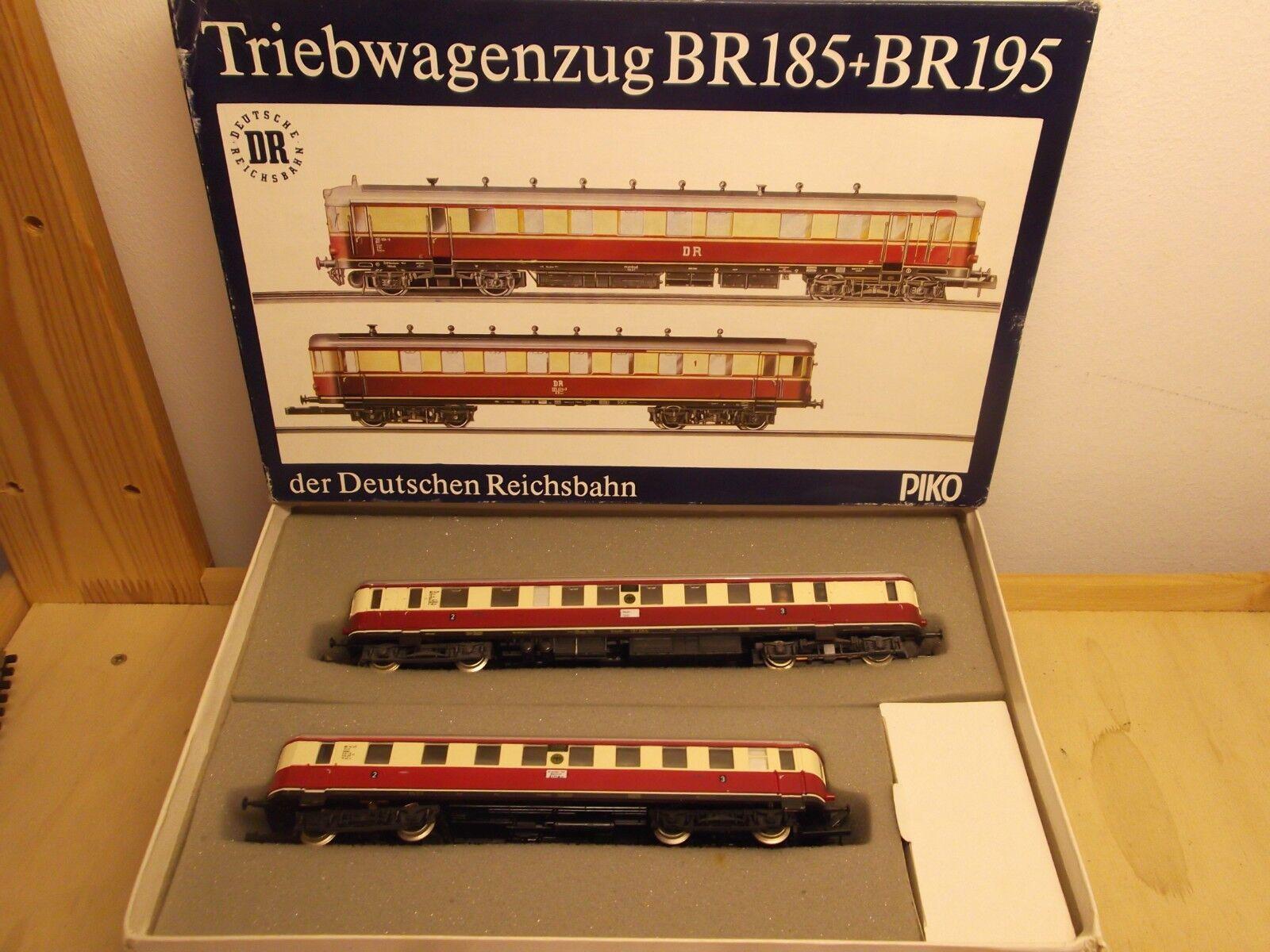 PIKO H0 Triebwagenzug VT137 VT137 VT137   VS 145 Triebwagen mit Beiwagen DRG 2. 3. Kl in OVP  | Der Schatz des Kindes, unser Glück  f02838
