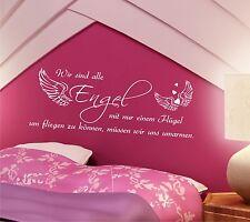 Wandtattoo Sprüche Wir sind alle ENGEL 100cm Schlafzimmer Zitate Kinderzimmer i2