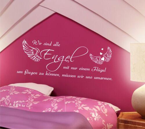 Mural proverbes nous sommes tous Ange 100cm Chambre Citations chambre enfant i2