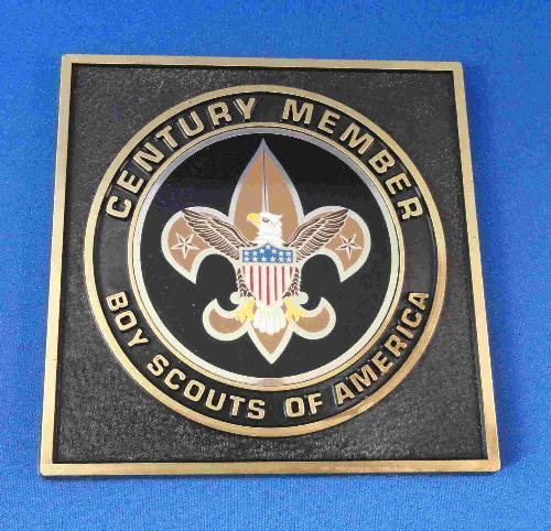 BSA Century Member 5 inch square easel plaque FOS SME