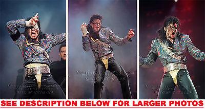 MICHAEL JACKSON DANGEROUS SUPER BOWL 3xRARE8x10 PHOTOS