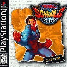 Rival Schools Sony PlayStation 1 Capcom PS1 Case Disc 1 & 2