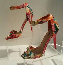 ❤️ Mossimo ❤️ Watercolor Open Toe Ankle Strap Stiletto Sandal Heels ❤️ Size 6