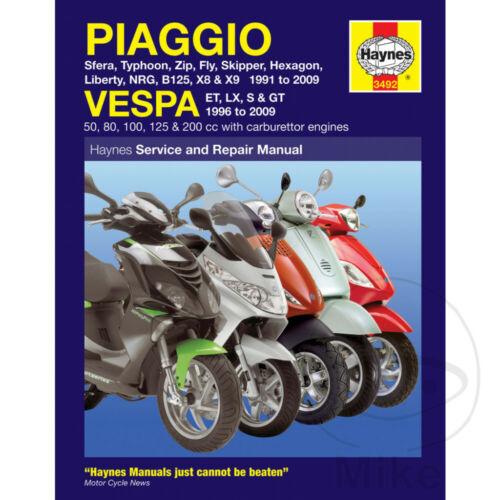 Piaggio TPH 125 2T Typhoon 1995-1996 Haynes Service Repair Manual 3492