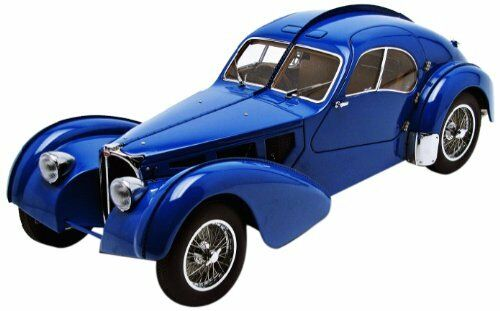 70943 BUGATTI 57 S Atlantic 1938 (bleu Metal Wire Spoke Wheels), 1 18 AUTOart