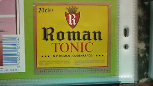 OLD-BELGIAN-SOFT-DRINK-CORDIAL-LABEL-ROMAN-BREWERY-TONIC