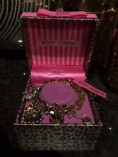 Betsey Johnson Silvertone Pink Silver Sparkle Skull Girl Wine Bottle Stopper Box