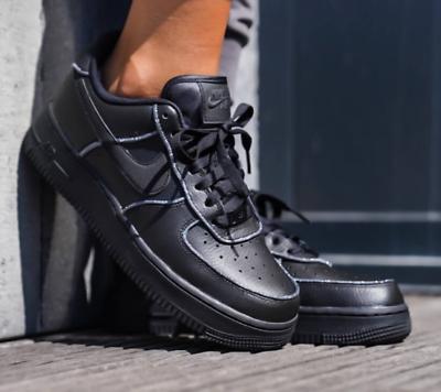 "WOMEN/'S TG UK 7.5-8.5 Nike Air Force 1 Low /""GLITTER/"" AT0073 001"