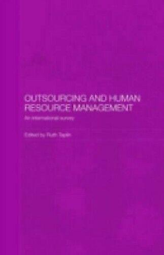 Outsourcing Und Menschliche Hilfsquelle Management: An International Survey
