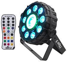Chauvet DJ FX Par 9 DMX Multi-Effect LED, SMD RGB+UV Strobe Par Light + Remote