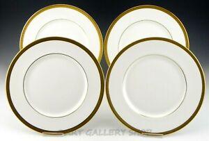 Royal-Doulton-England-H-4980-ROYAL-GOLD-10-5-8-034-DINNER-PLATES-Set-of-4