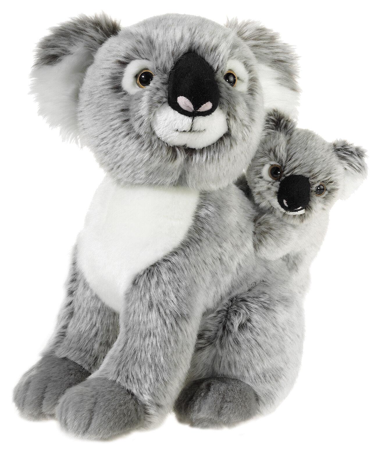 MI CLASSICO Plüsch Koala Bär mit Baby Kuschel - Plüschtier Kuscheltier Stofftier