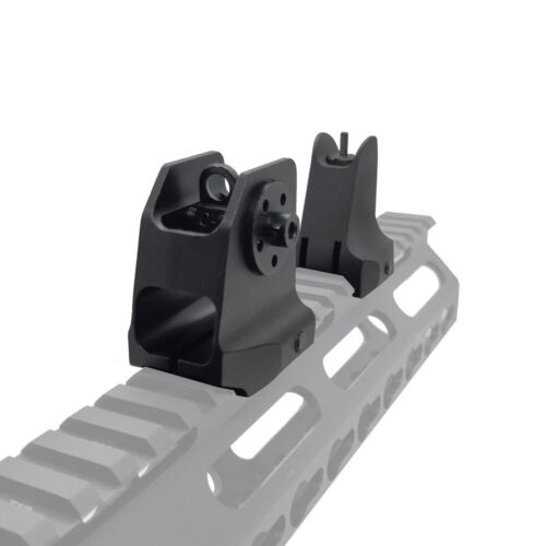 Flip up Front Rear Sight Set Backup Sights For Rifle 20mm Rail Picatinny Weaver