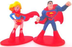 SUPERMAN & SUPERGIRL DC Comics PVC TOY FIGURE SET Birthday ...