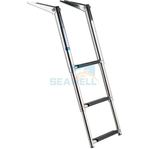 Stainless Boat Ladder 3 Step Telescopic Marine Transom Boarding Ladder