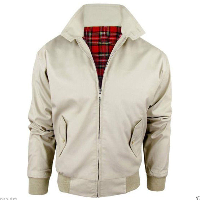 Beige / Harrington Jacket Adults Long Sleeve
