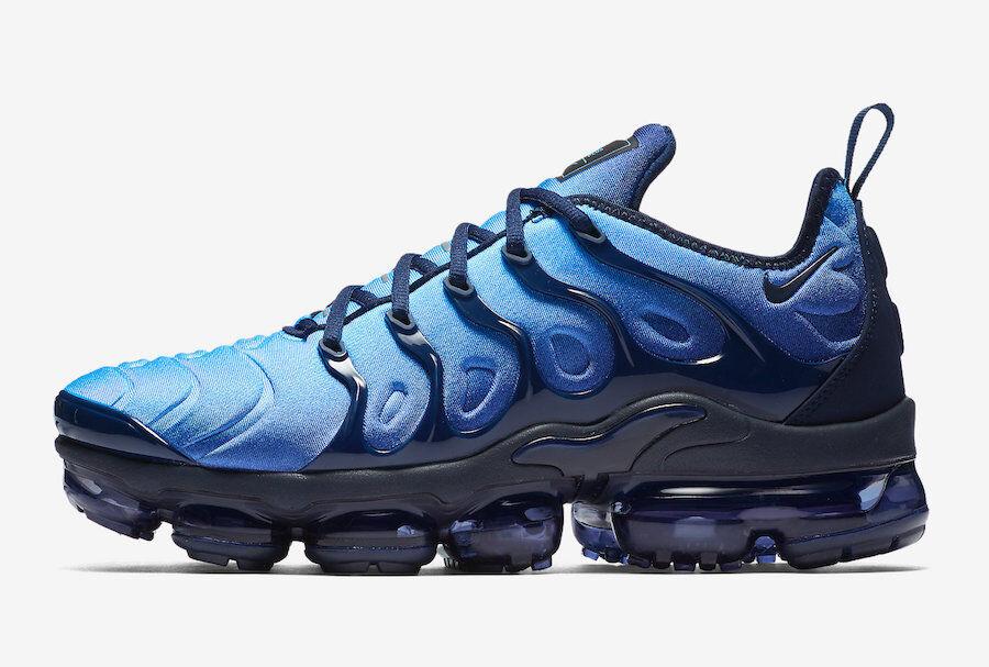 Nike Air Max Vapormax Plus OBSIDIAN PHOTO blueE BLACK TUNED 924453-401 sz 7.5 Men