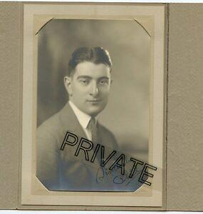 Antique Photo In Folder - Nice Looking California Man (PHIL) Jacket & Tie