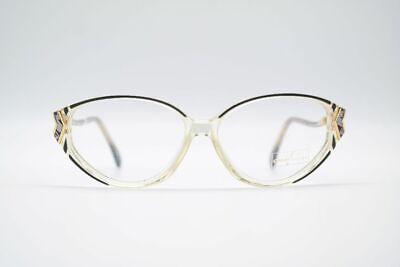 Vintage Owp 2199 53[]13 130 Transparent Schwarz Oval Brille Eyeglasses Nos Eleganter Auftritt