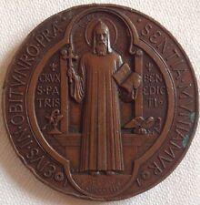 antike anhänger wallfahrtsmedaille bronze HL.BENEDICTUS/BENEDIKTUSSEGEN 1880