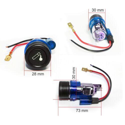 12v azul del encendedor de cigarrillos y enchufe conector para mechero de coche universal 12 voltios