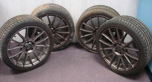 Set-of-4-Michelin-Pilot-Sport-AS3-Wheels-amp-Tires-19-034-Bronze-Color-Bremmer-Kraft