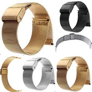 Fashion-Milanese-Watch-Mesh-Band-Strap-Double-Clasp-Bracelet-14-16-18-20-22-24mm