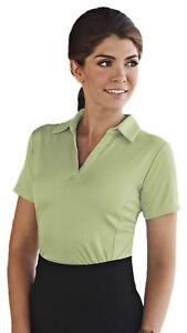 Tri-Mountain-Women-039-s-Polyester-Johnny-Collar-Short-Sleeve-Polo-T-Shirt-413