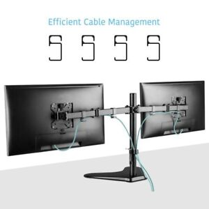 asus samsung dual monitor stand 2 lcd screens tv bracket adjustable