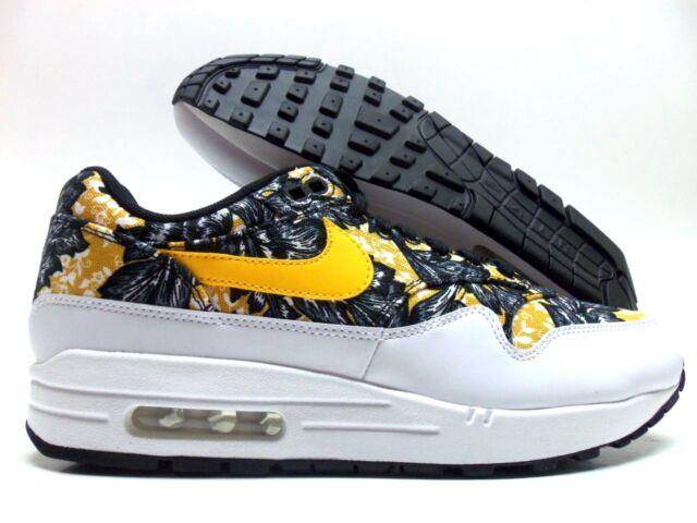 WMNS Nike Air Max 1 Floral 'WhiteUniversity Gold Black