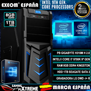 Ordenador-Pc-Gaming-Intel-Core-i7-9700K-8xCORES-8GB-DDR4-1TB-HDD-HDMI-Sobremesa